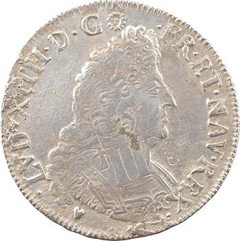 Louis XIV, demi-écu aux palmes, 1693 Troyes