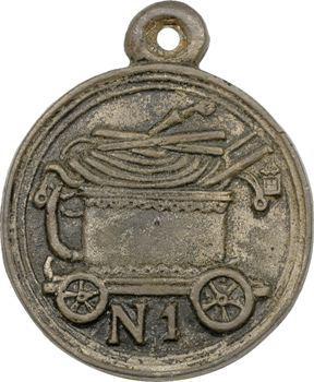 Premier Empire, médaille ou insigne de pompier, s.d. fonte artisanale