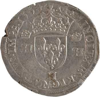 Henri II, teston à la tête nue 1er type, 1554 La Rochelle