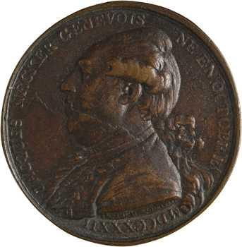 Jacques Necker rappelé au ministère en juillet 1789, par Duvivier, 1789 Paris