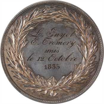 Louis-Philippe Ier, médaille de prix Louis XVIII transformée en médaille de mariage, 1821-1835 Paris