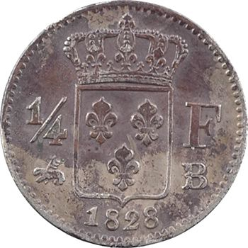 Charles X, 1/4 de franc, 1828 Rouen