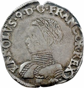 Charles IX, teston 4e type, 1567 Bayonne