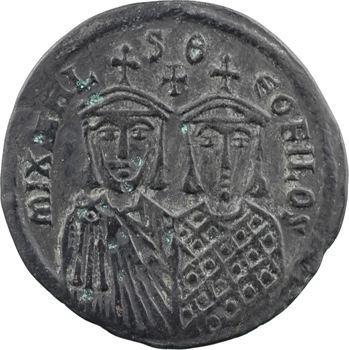 Michel II, follis, Constantinople, 9e officine, 820-829