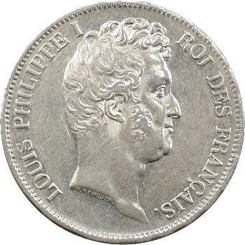 Louis-Philippe Ier, 5 francs Tiolier avec le I, tranche en creux, 1831 Lille