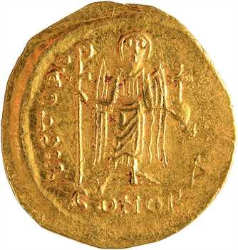 Maurice Tibère, solidus, Constantinople, 4e officine, 582-602