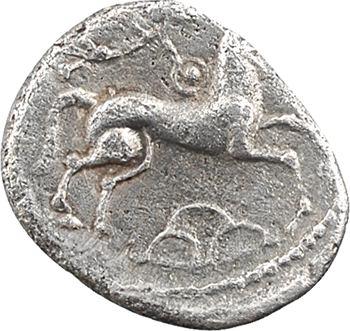 Carnutes (ou Cénomans), denier à la tête de Pallas, c.80-50 av. J.-C