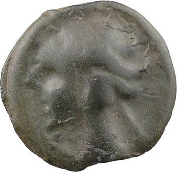 Helvètes/Séquanes, potin type de la Tène au cheval, IIe-Ier s. av. J.-C