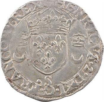 Henri II, douzain aux croissants, (avant juillet) 1550 Troyes