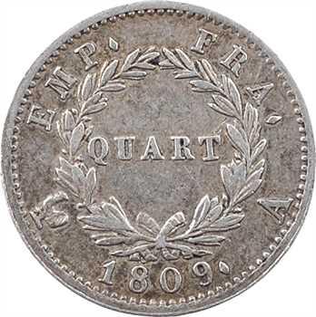 Premier Empire, quart de franc Empire, 1809 Paris