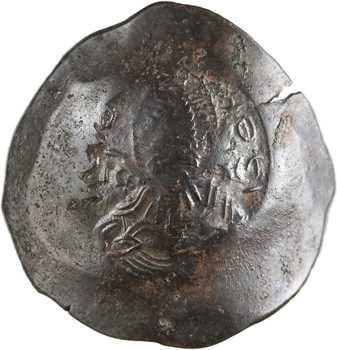 Manuel Ier, aspron trachy de billon, Thessalonique, 1143-1180