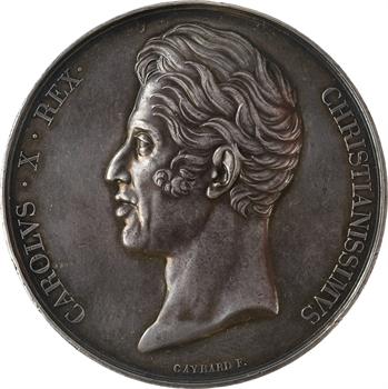 IIIe République, médaille du sacre de Charles X transformée en médaille de mariage, 1825 (1892) Paris