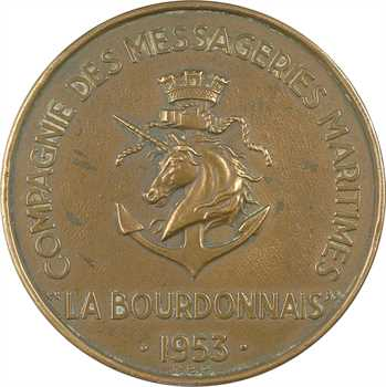 IVe République, Messageries maritimes, La Bourdonnais, 1953 Paris