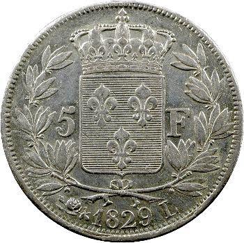 Charles X, 5 francs 2e type, 1829 Bayonne