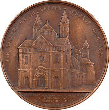Allemagne, restauration de la cathédrale de Spire, par Wiener, 1858