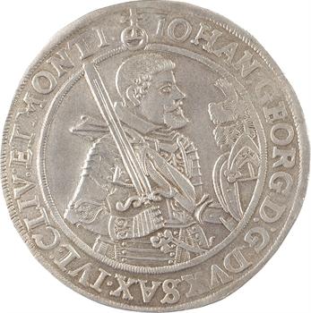 Allemagne, Saxe (duché de), Jean-Georges Ier, thaler, 1625 Dresde