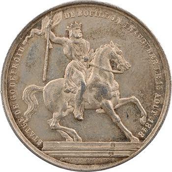 Belgique, Bruxelles, inauguration de la statue de Godefroid de Bouillon, par Wiener, 1848