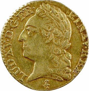 Louis XV, louis à la vieille tête, 1774 Paris
