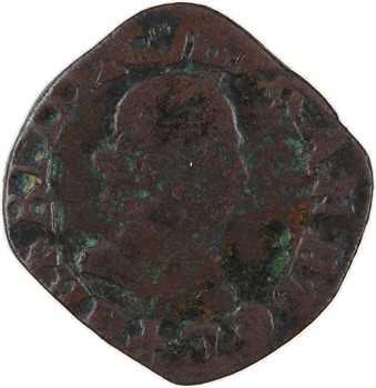 Henri III, denier tournois, buste à droite, s.d. Bayonne