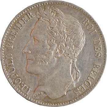 Belgique, Léopold Ier, 5 francs, 1849 Bruxelles