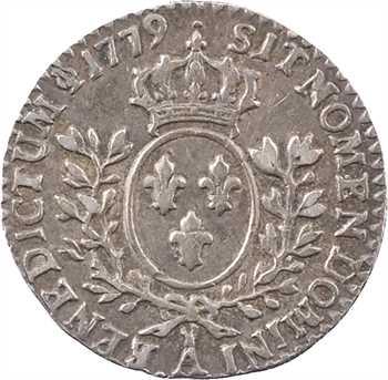 Louis XVI, vingtième d'écu au nom de Louis XV, 1779, 2d semestre, Paris