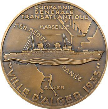 IIIe République, Compagnie Générale Transatlantique (C.G.T.), le paquebot Ville d'Alger, par Delamarre, 1935 Paris