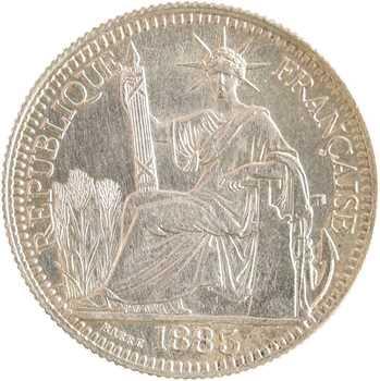 Indochine, 10 centièmes, 1885 Paris