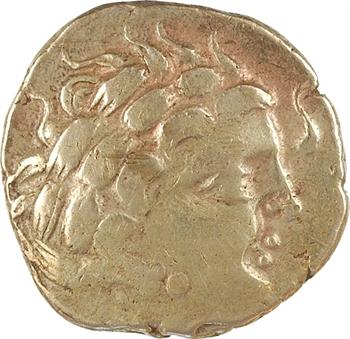 Aulerques Cénomans, statère d'or au personnage couché, c.IIe-Ier s. av. J.-C