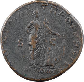 Hadrien, sesterce, Rome, 118