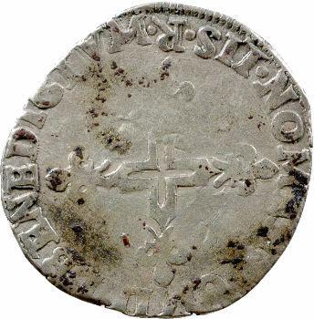 Henri III, Double sol parisis, 1582 Villeneuve-lès-Avignon