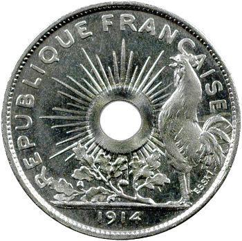 IIIe République, essai de 25 centimes par Pillet, grand module, 1914 Paris