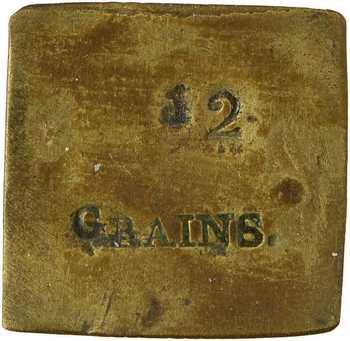 Ancien Régime, poids monétaire de 12 grains, s.d