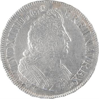 Louis XIV, écu aux palmes, flan neuf, 1699 Bordeaux