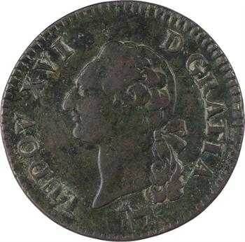 Louis XVI, sol de bronze, 1782 Orléans