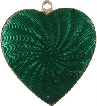 IIIe République, médaille de mariage artisanale, 1908 Évian