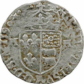 Henri IV, douzain de Béarn 1er type, 1590 Morlaàs