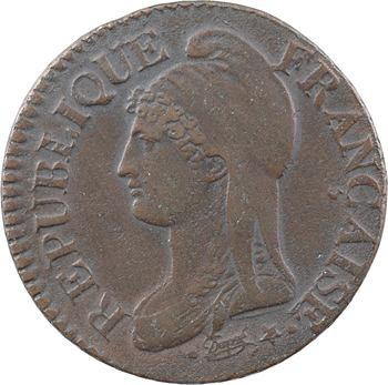 Le Directoire, cinq centimes Dupré, An 8 Metz