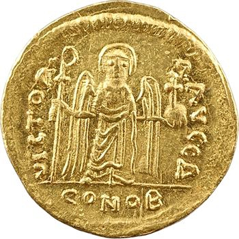 Phocas, solidus, Constantinople, 4e officine, 607-610