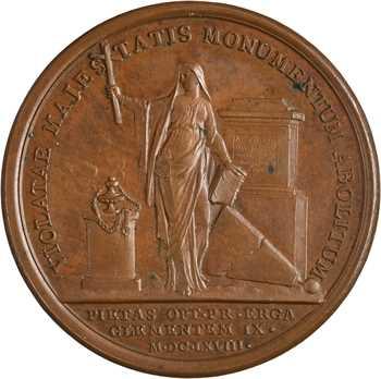 Louis XIV / Corse, la pyramide des Corses abattue à Rome, 1668 Paris