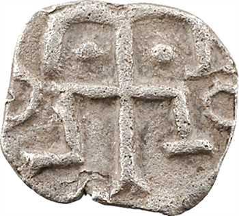 Neustrie, Paris et/ou région parisienne, denier à la croix ancrée, s.d. (c.700)
