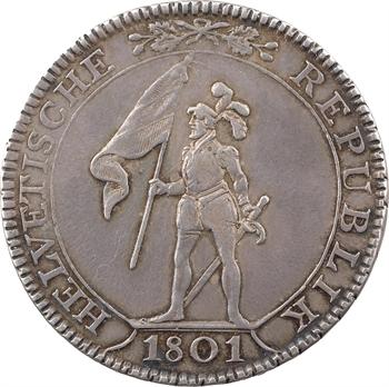 Suisse, République helvétique, 4 franken, 1801 Berne