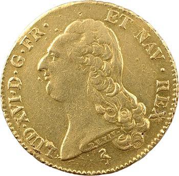 Louis XVI, double louis à la tête nue, 1786 Paris