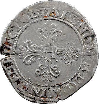 Henri III, franc au col plat, 1577 Rouen