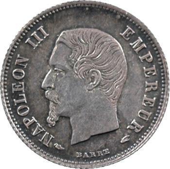Second Empire, 20 centimes tête nue, 1853 Paris