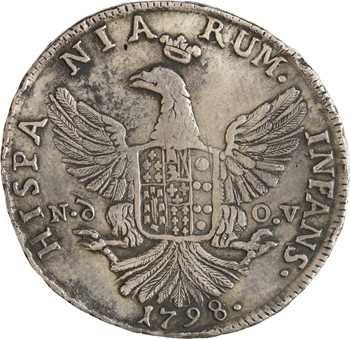 Italie, Sicile (royaume de), Ferdinand III, 12 tari, 1798 Palerme
