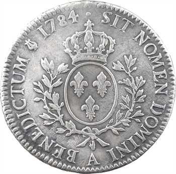 Louis XVI, écu aux branches d'olivier, 1784, 2d semestre, Paris