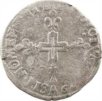 Henri III, double sol parisis, 2e type, 1579 Paris