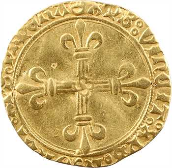 Charles VIII, écu d'or au soleil, 1re émission, c.1490, Troyes