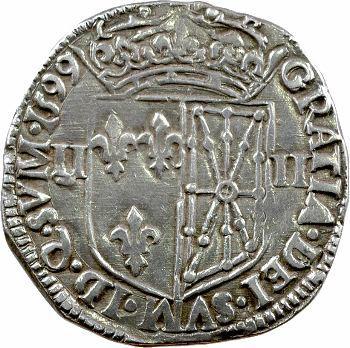 Henri IV, quart d'écu de Navarre, 1599 Saint-Palais