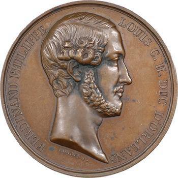 Le duc d'Orléans, élévation de la Chapelle Saint Ferdinand, 1844 Paris